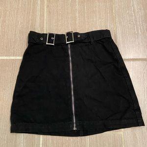 Nasty Gal Zip Up Mini Skirt size 4